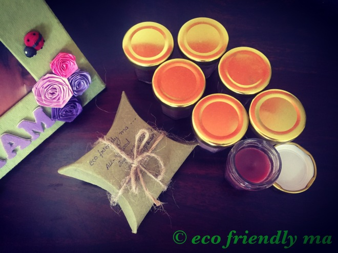 All-natural organic super-moisturizing tinted lip balm eco packing