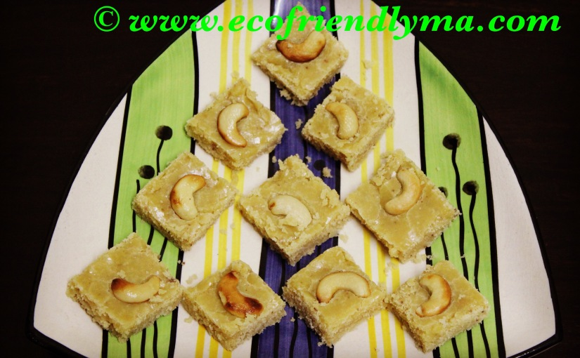 homemade 7 cups sweet burfi recipe