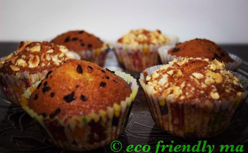 DIY organic vanilla sponge cake ormuffin