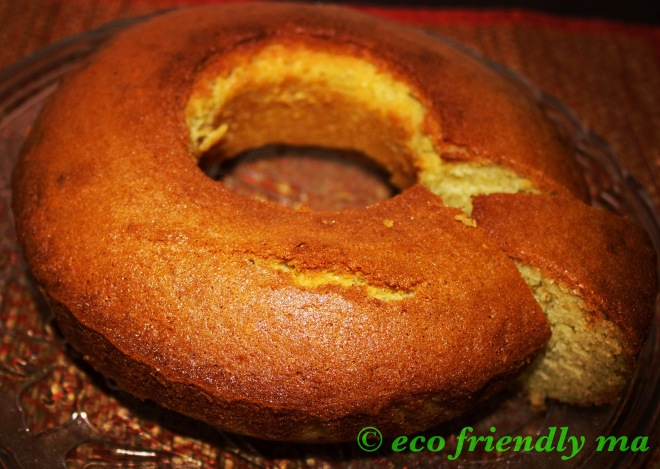 homemade diy vanilla sponge cake