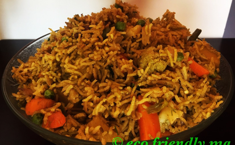 DIY nutritious vegetable pulao