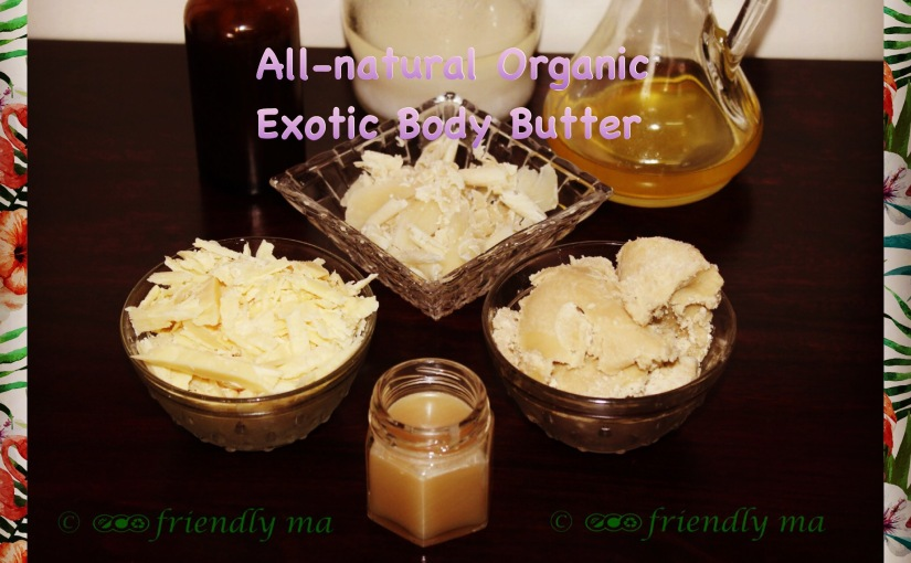 DIY all-natural super-moisturising exotic body butter / lotion bars