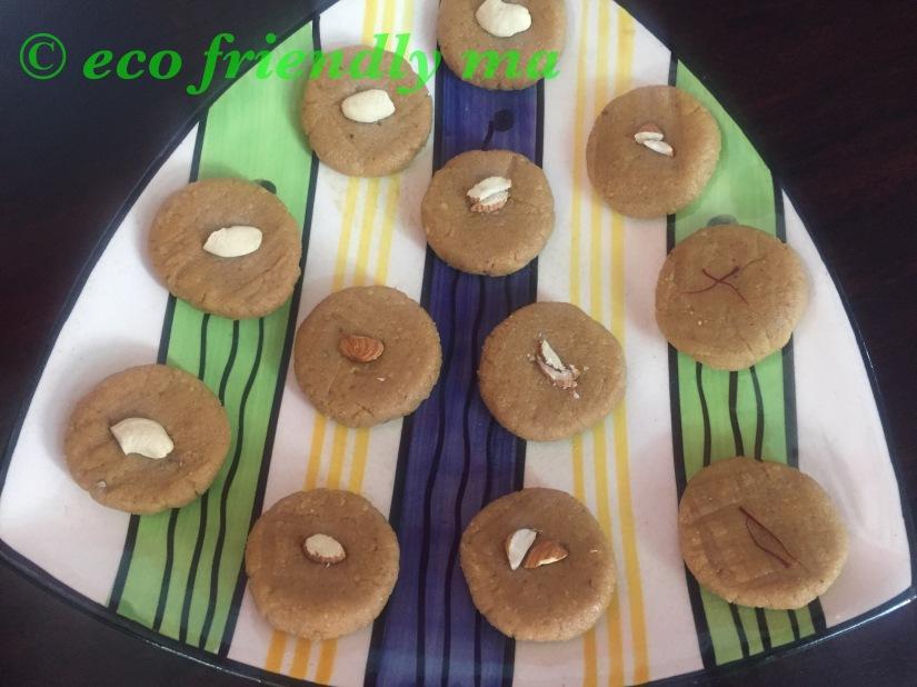 DIY fresh cottage cheese n jaggery fudge / sandesh