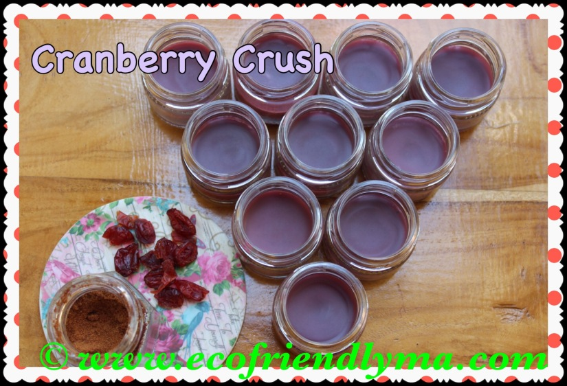 cranberry crush all natural organic lip balm