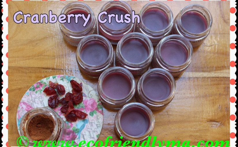 DIY Cranberry Crush all-natural lip balm