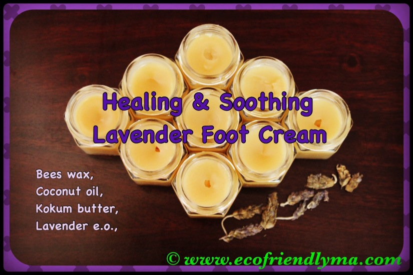 DIY healing n soothing lavender foot cream recipe