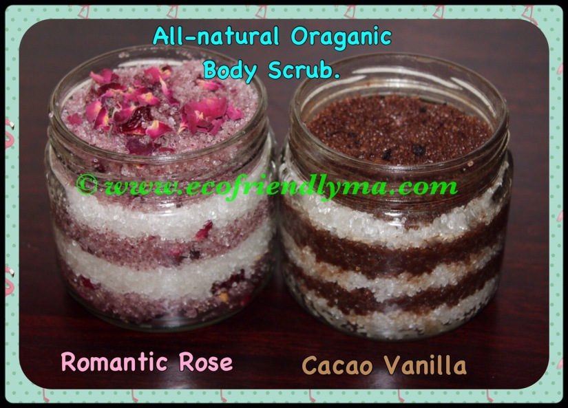 DIY all-natural body scrub for smooth n silky skin