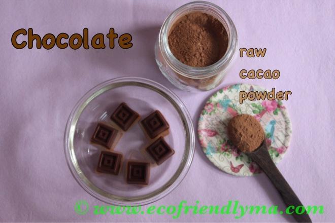 Homemade organic chocolate