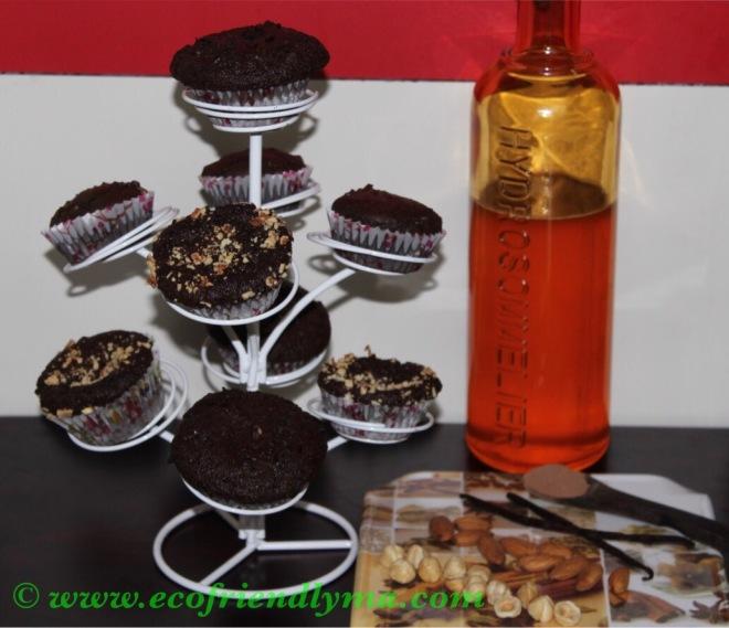 Homemade diy chocolate browne or muffin recipe