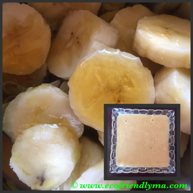 DIY banana honey and olive oil hair conditioner