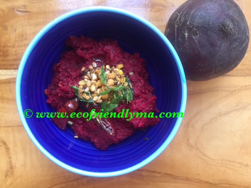 Homemade beetroot chutney