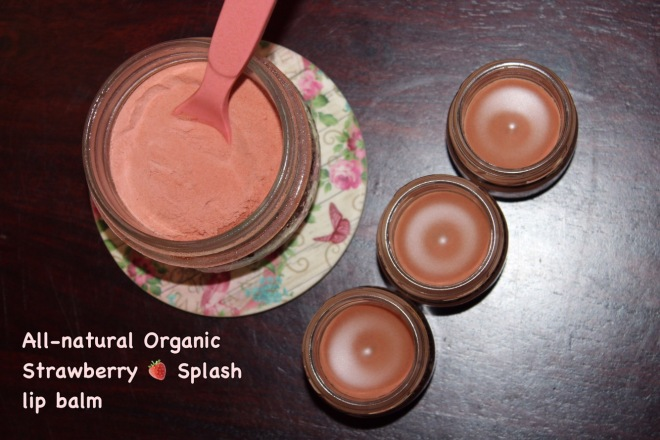 DIY Strawberry Splash all-natural lip balm