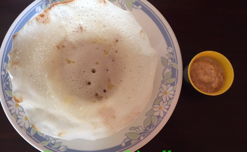 Homemade rice pancake with coconut milk / appam