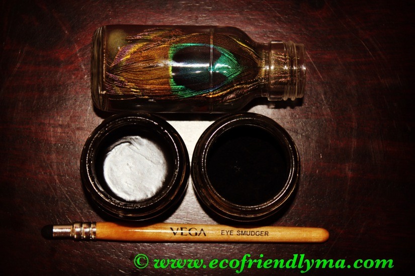 DIY all-natural organic almond n castor oil kajal / khol / eye liner