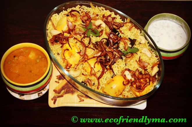 homemade egg biriyani