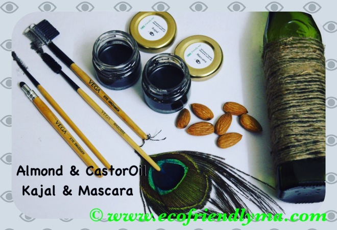 diy almond n castor oil kajal n mascara Ayurvedic homemade organic recipe
