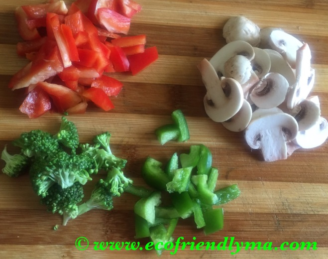 bell peppers capsicum broccoli mushroom