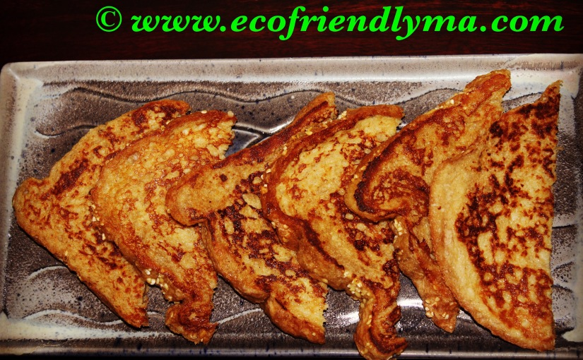 Homemade wholesome french toast