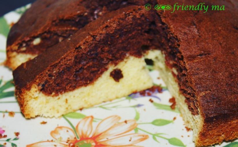 Homemade organic marble cake – chocolatevanilla