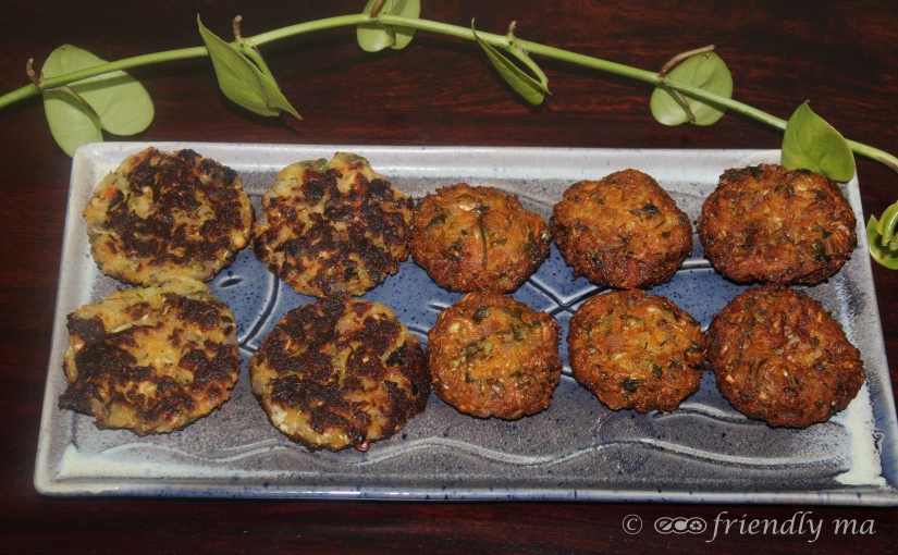 Raw papaya & cabbage vada / cutlets