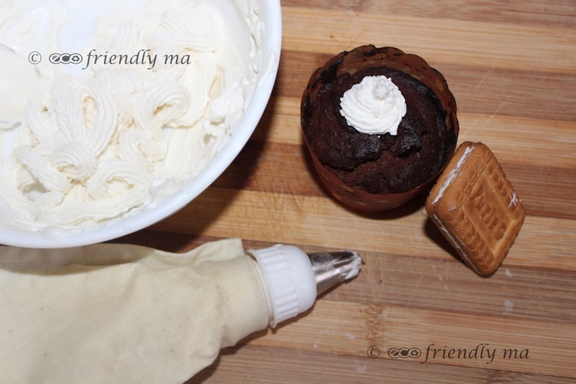 Homemade organic vanilla whipped cream
